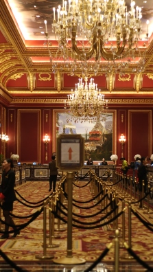 the check-in lobby of Parisian hotel