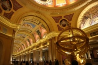This is one of the entrance lobby of Venetian hotel